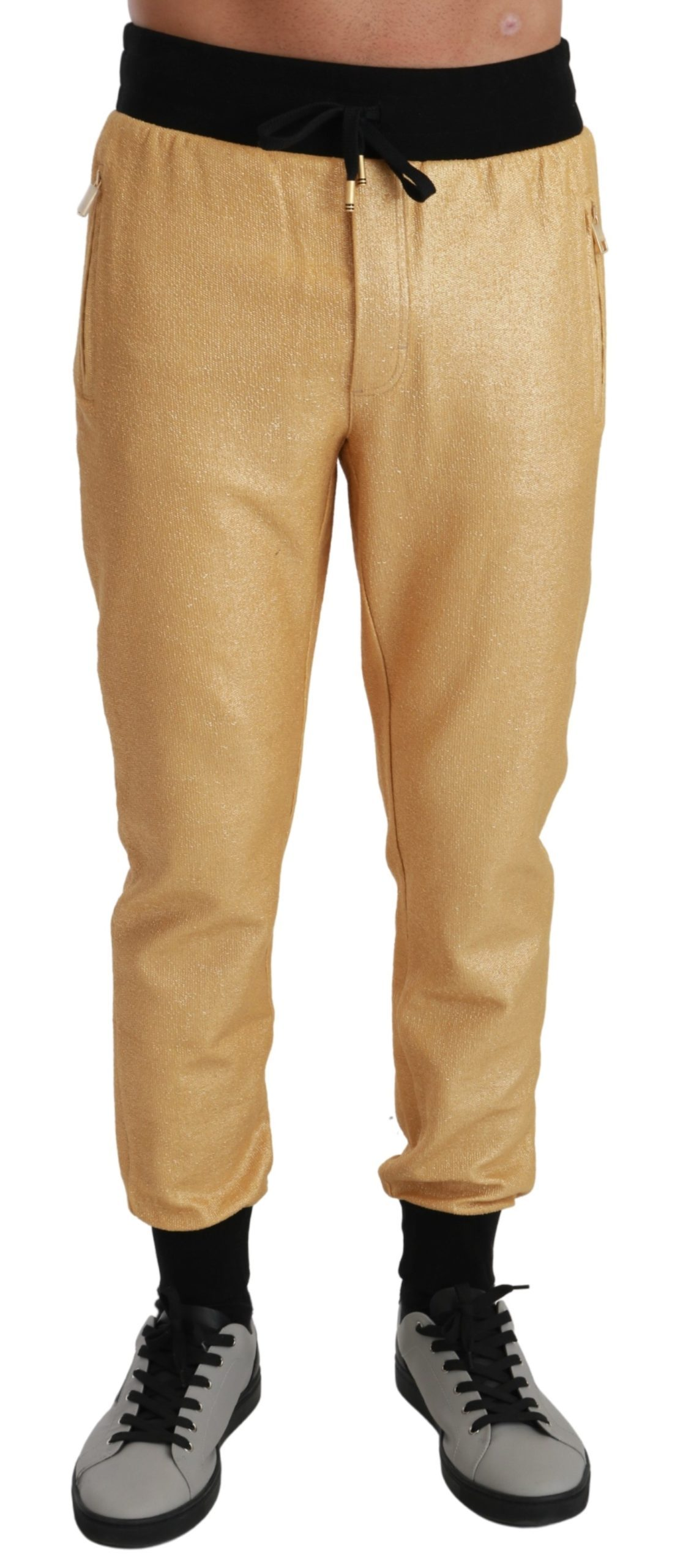 Dolce & Gabbana Men's Pig of the Year Trouser Gold PAN71036 - IT44   XS