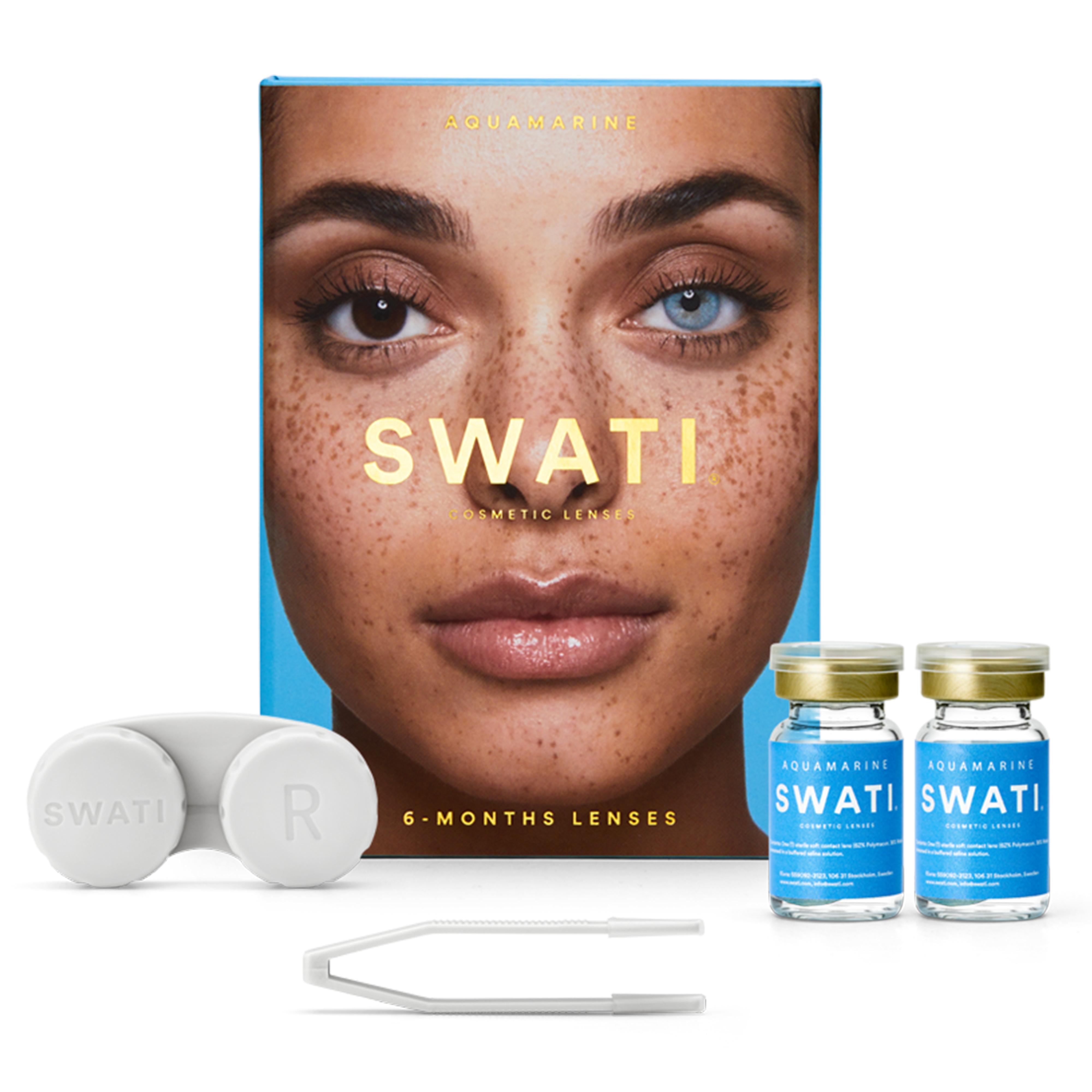 SWATI - Coloured Contact Lenses 6 Months - Aquamarine
