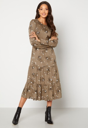 Happy Holly Tris ls dress Mole / Patterned 44/46