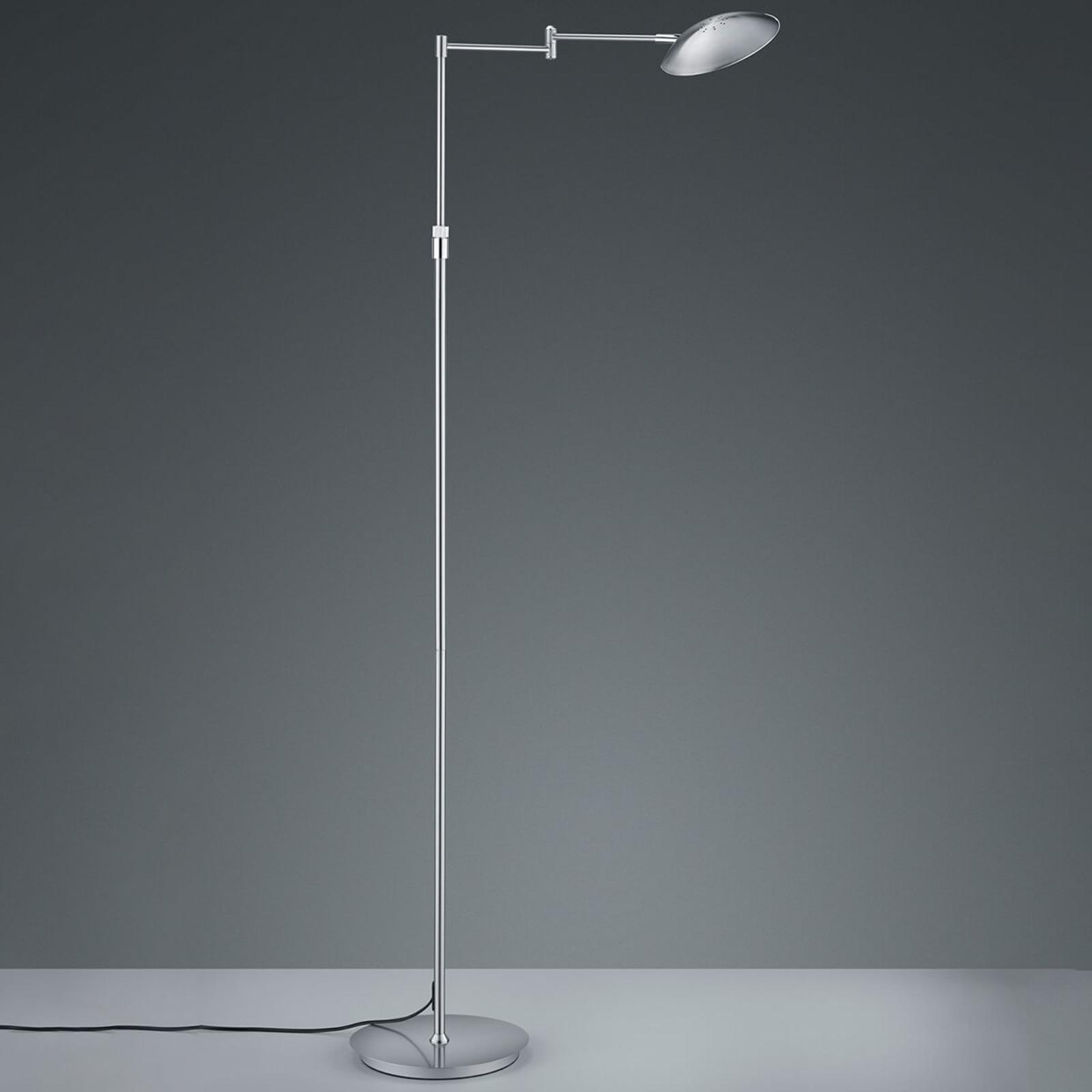 LED-lattiavalo Calcio, säädettävä, mattanikkeli