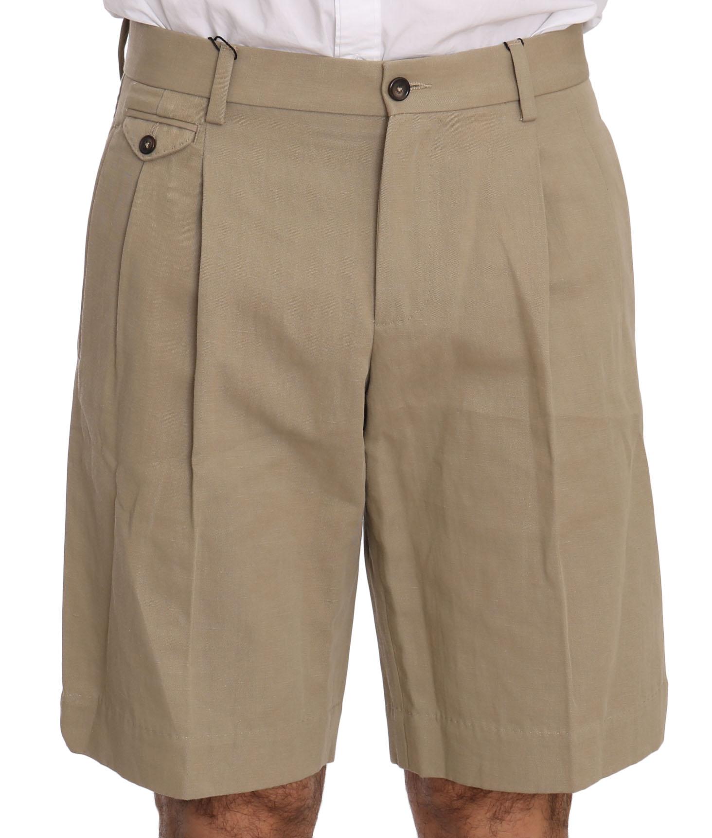 Dolce & Gabbana Men's Royal Bee Shorts Beige PAN70334 PAN70334 - IT44 | S