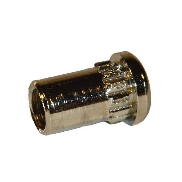 ASSA 802976100002 Hylsemutter M5 Forniklet, 10-pakning