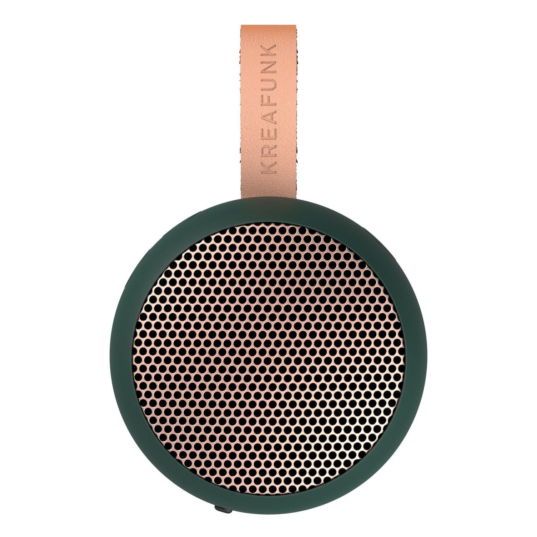 KreaFunk - aGO Bluetooth Speaker - Shady Green/Rose Gold Grill (Kfwt38)
