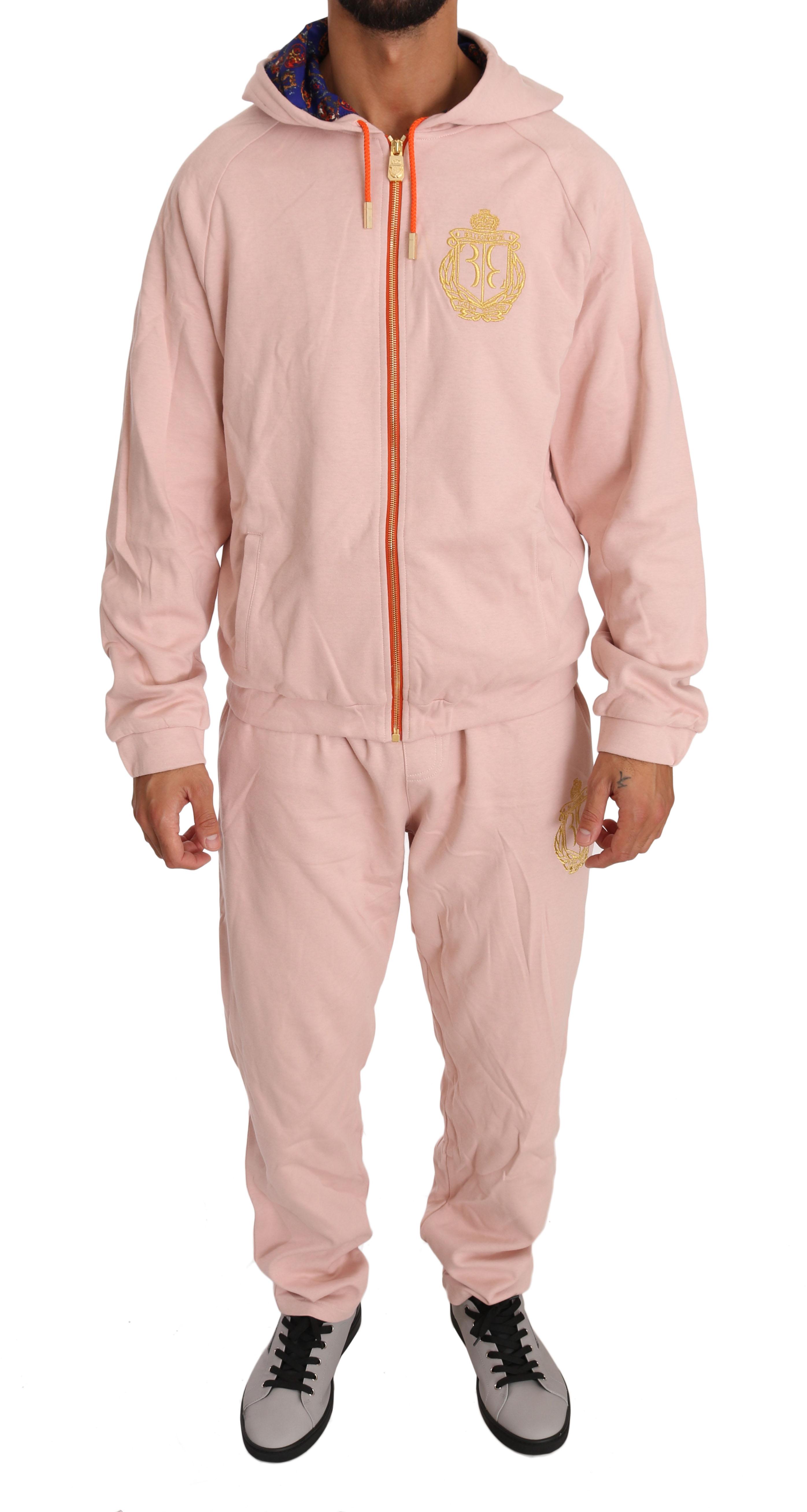 Billionaire Italian Couture Men's Tracksuit Pink BIL1002 - L