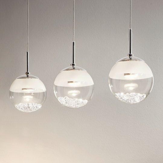 Pitkä LED-riippuvalaisin Montefio, kristallia