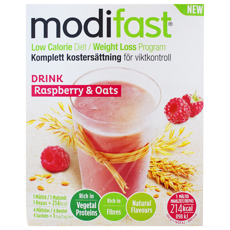 "Kostersättning ""Drink Raspberry & Oats"" 220g - 58% rabatt"
