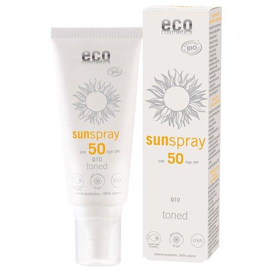 Eco Cosmetics Ekologisk Solspray SPF 50 Tonad Q10, 100 ml