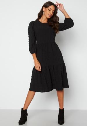 Happy Holly Fredrika flounce dress Black 40/42