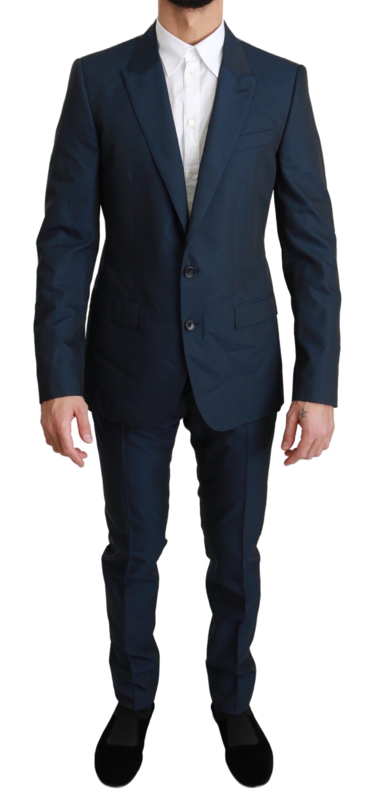 Dolce & Gabbana Men's Solid Wool 2 Piece MARTINI Suit Blue KOS1675 - IT48 | M