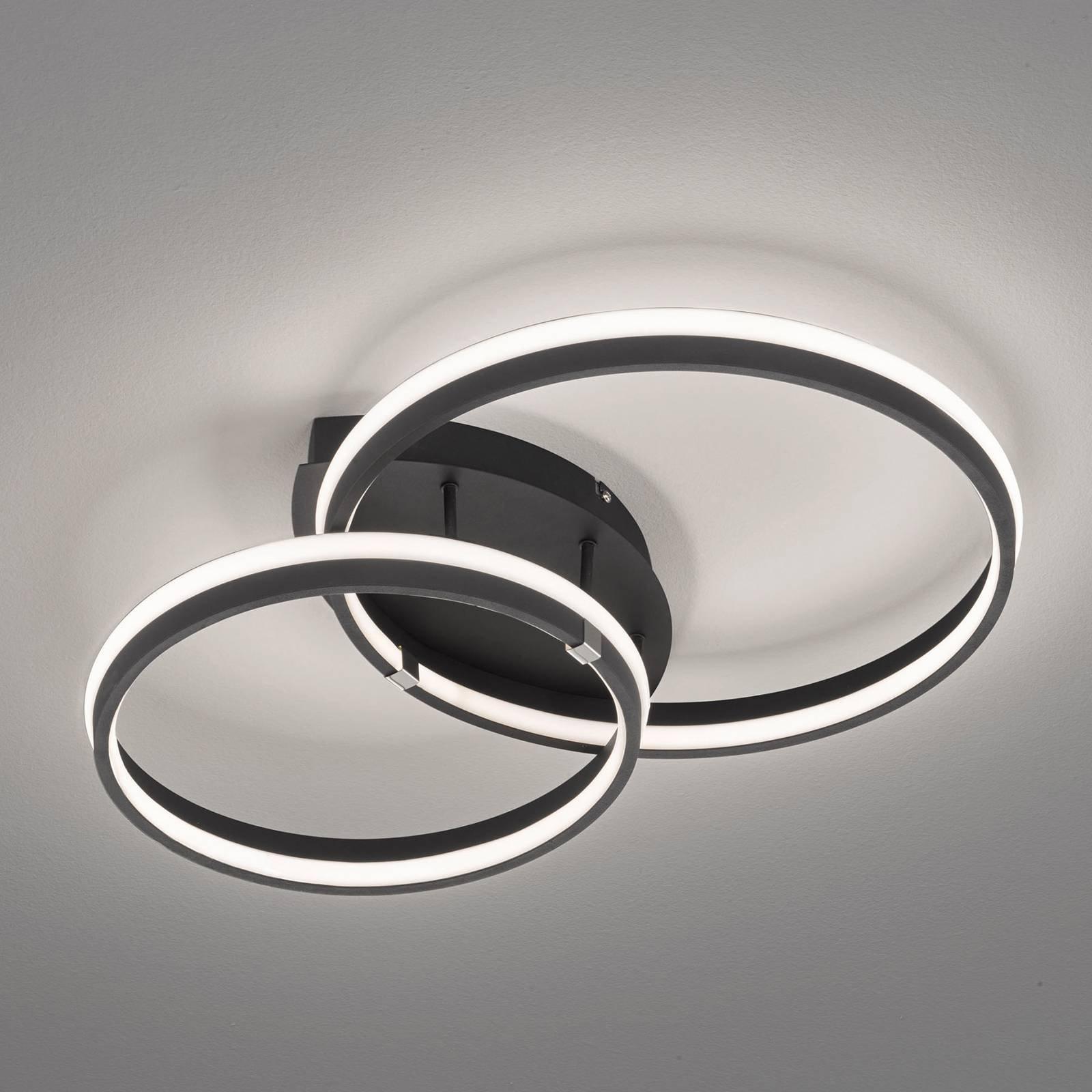 LED-taklampe Nomade, dimbar, matt svart