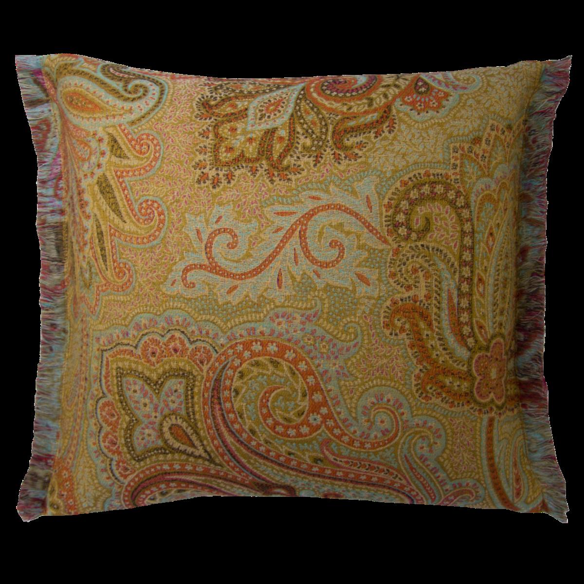 de Le Cuona   Dragonfly Cushion With Fringe Fire