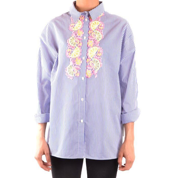 Boutique Moschino Women's Shirt Blue 167466 - blue 44
