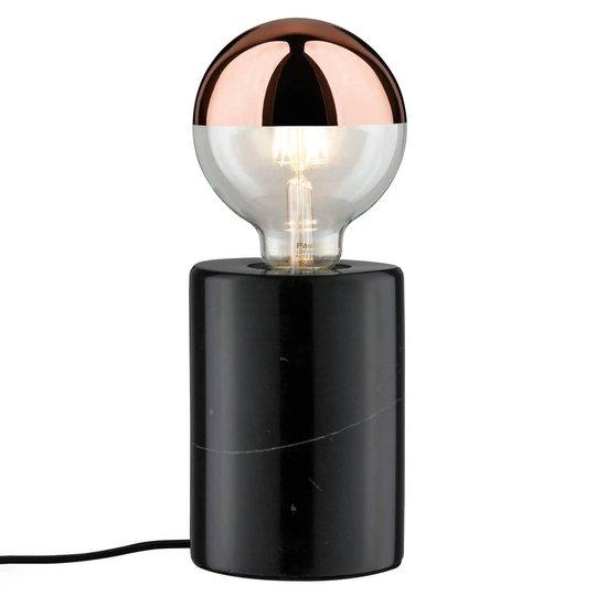 Nordin-pöytälamppu mustaa marmoria