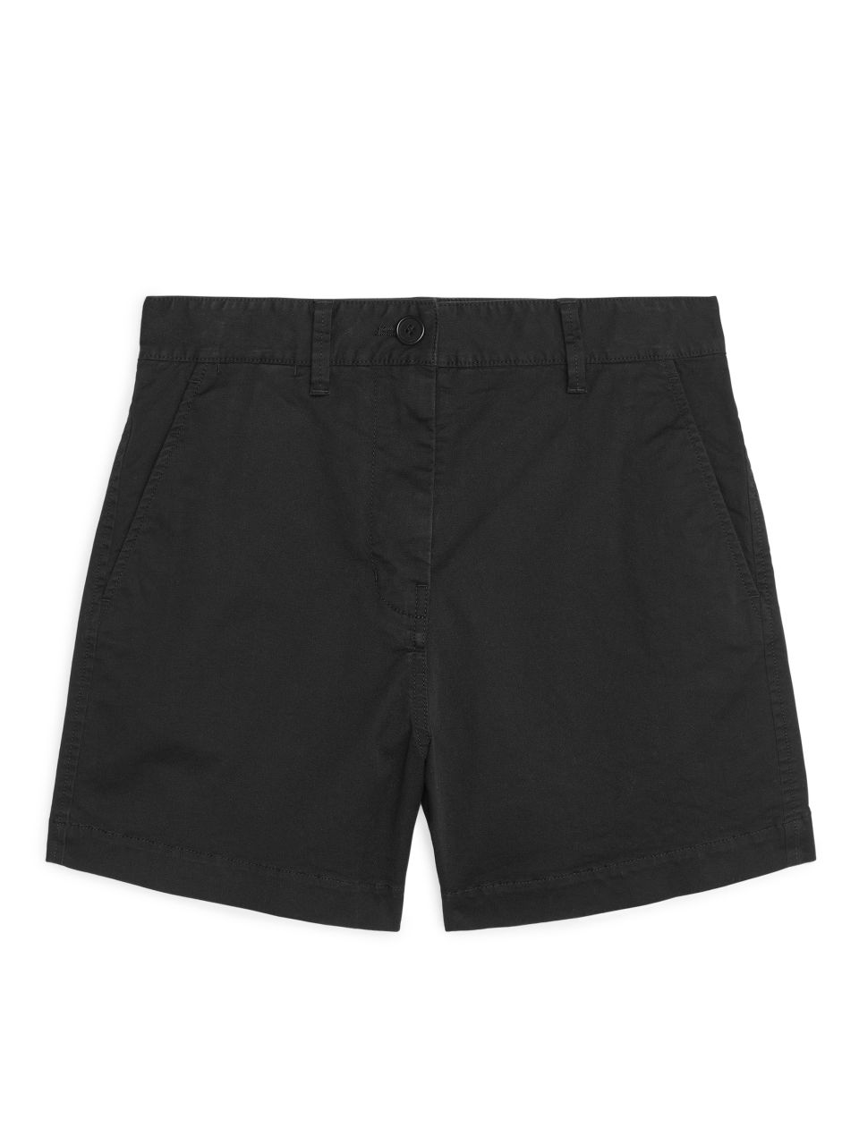 Twill Chino Shorts - Black