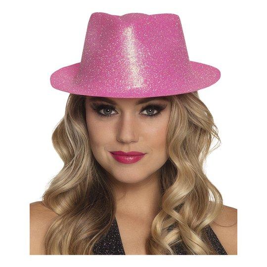 Gnistrande Neonrosa Hatt - One size