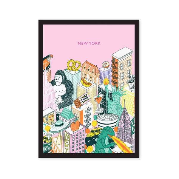 New York Art Print A5