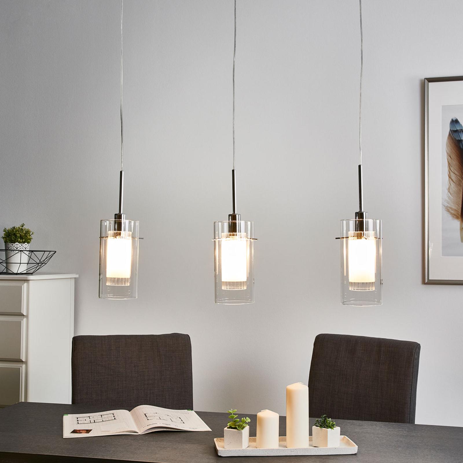 3-lamppuinen koristeellinen DUO 1-riippuvalaisin