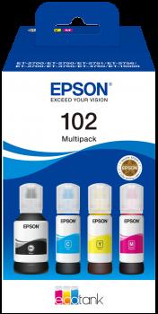 Epson - T102 EcoTank 4-Colour Multipack