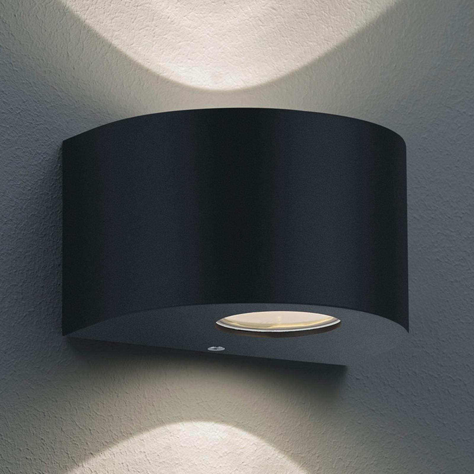Pyöreä LED-ulkoseinälamppu Rosario, musta