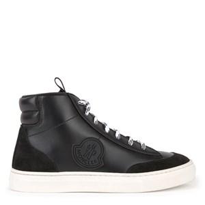 Moncler Leather Hi-Top Sneakers Svarta 26 EU
