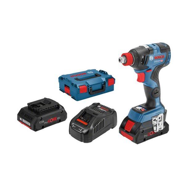 Bosch GDR 18V-200 C Muttertrekker med L-BOXX, batterier og lader
