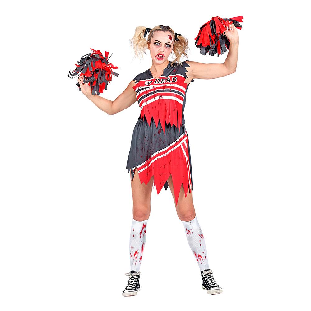 Död Cheerleader Maskeraddräkt - X-Small