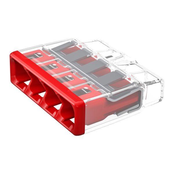 Wago 2773-404 Rasialiitin 450 V 4 napaa, punainen, 80 kpl