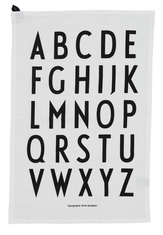 Design Letters - Classic Tea Towel - White (10503000WHITE)