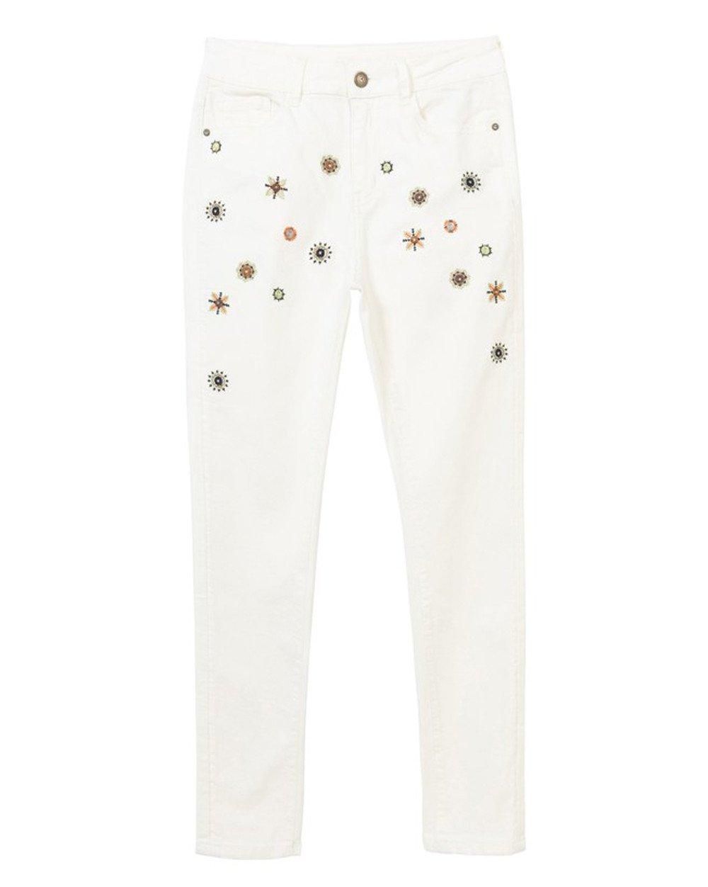 Desigual Women's Jeans Various Colours 204801 - white w26