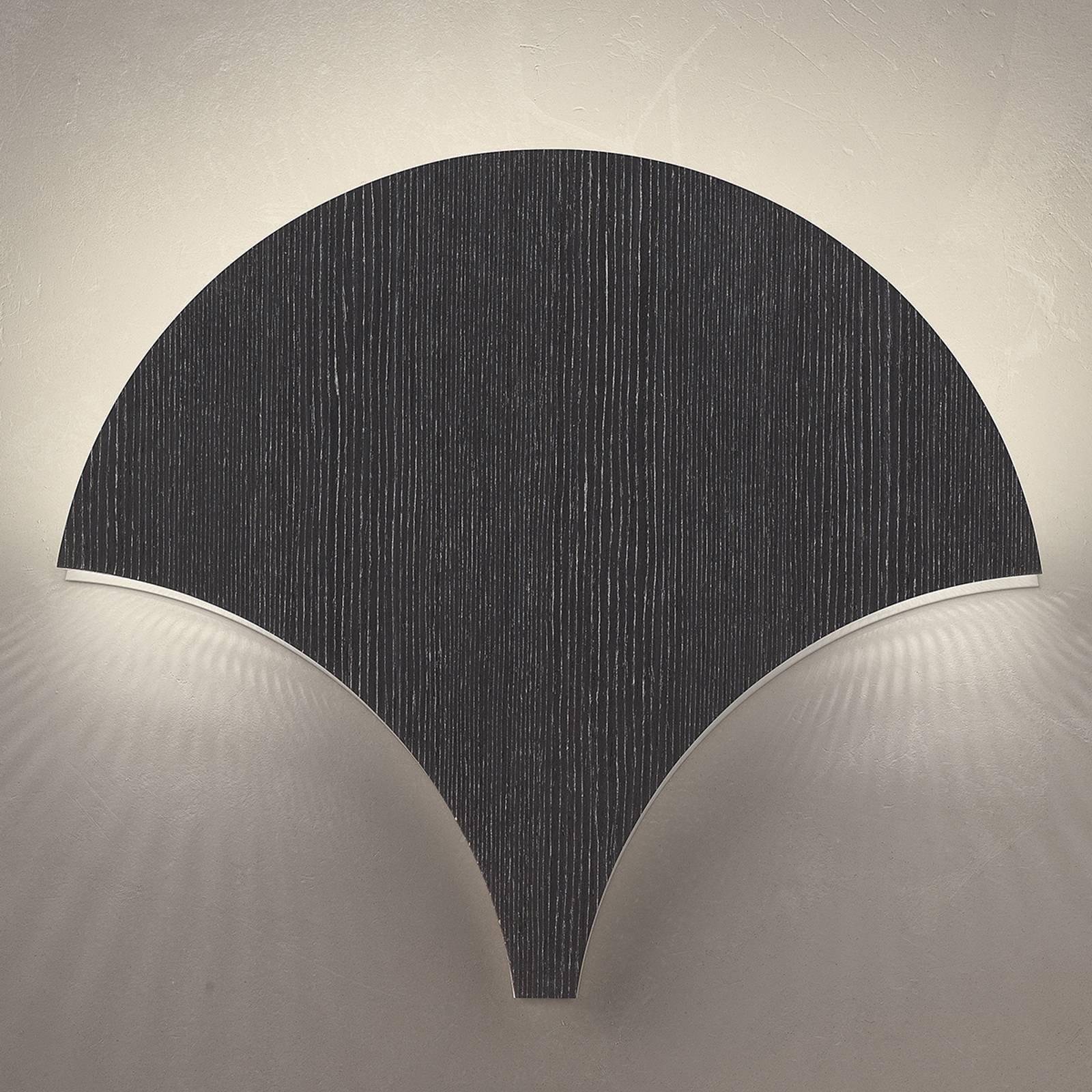 LED-vegglampe Palm, svart-sølv