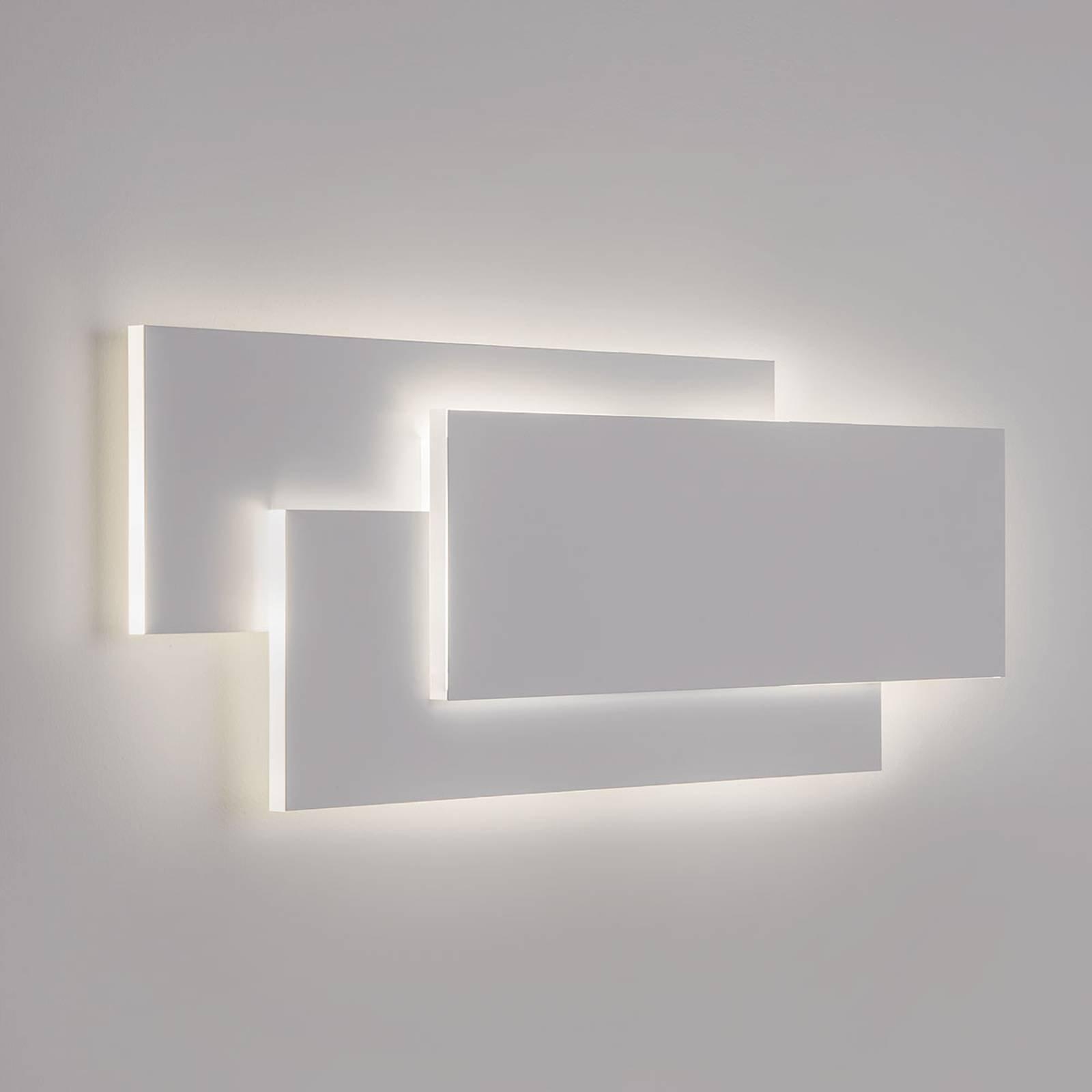 Toppmoderne LED-vegglampe Edge i hvitt