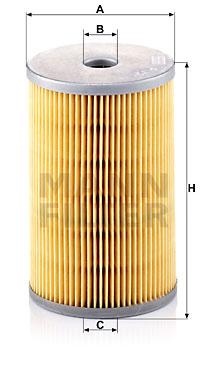 Polttoainesuodatin MANN-FILTER P 725 x