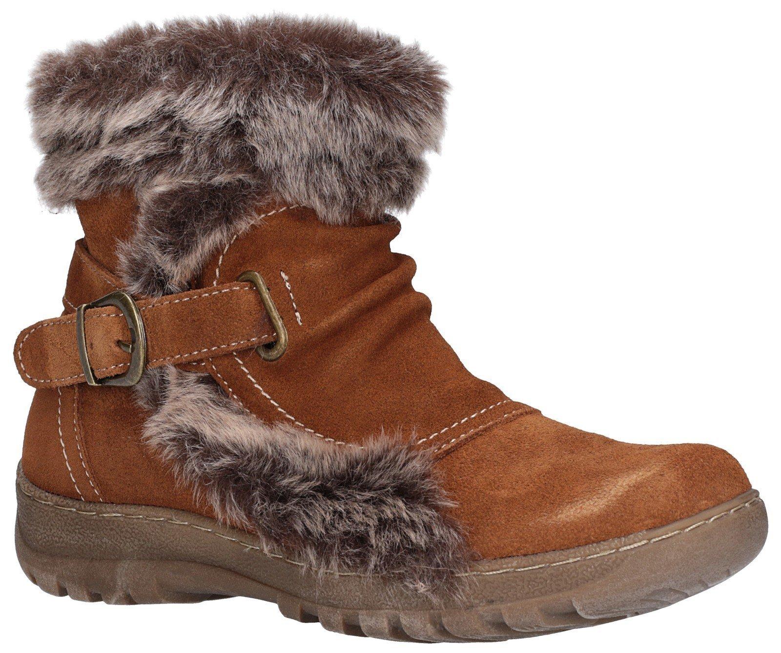 Fleet & Foster Women's Ginny Ankle Boot Brown 27143-45598 - Tan 5
