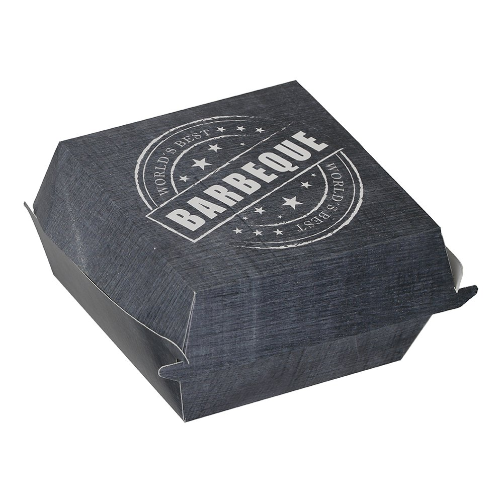 Hamburgerbox Grå - 8-pack