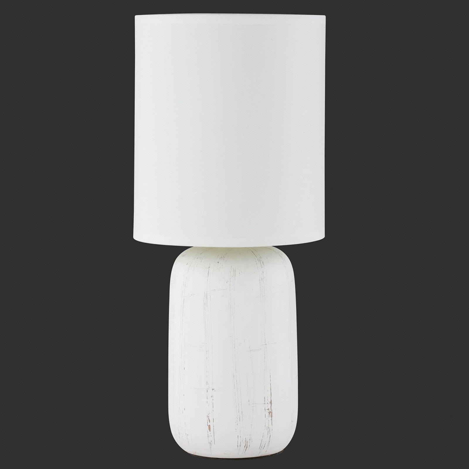 Keramiske bordlampen Clay med tekstilskjerm