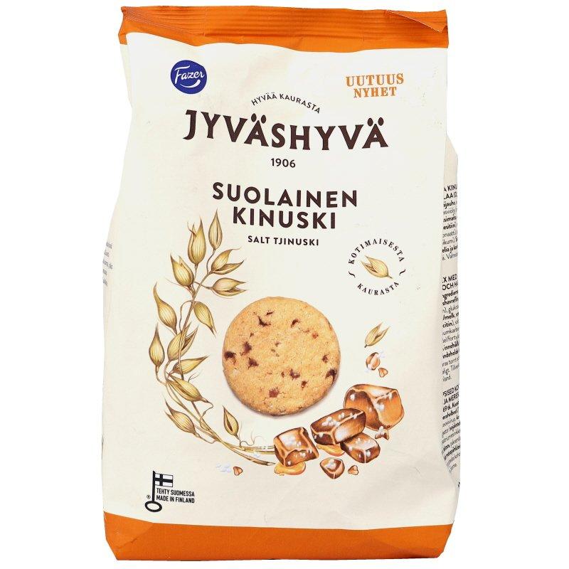 Jyväshyvä Suolainen Kinuski Keksi - 20% alennus