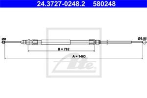 Vaijeri, käsijarru, Takana, BMW 1 [F20, F21], 1-Serie Van [F20], 2 Cabriolet [F23], 2 Coupé [F22, F87], 34 40 6 792 263