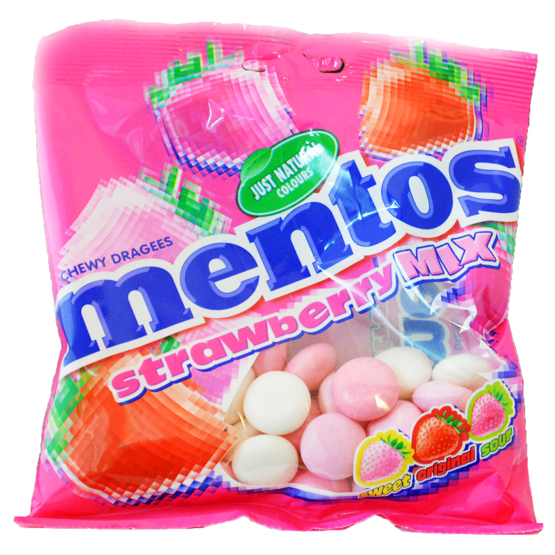 Mentos Bags Strawberry - 40% rabatt