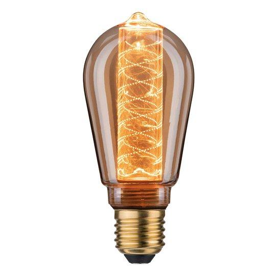LED-lamppu E27 ST64 4W Inner Glow spiraalikuvio