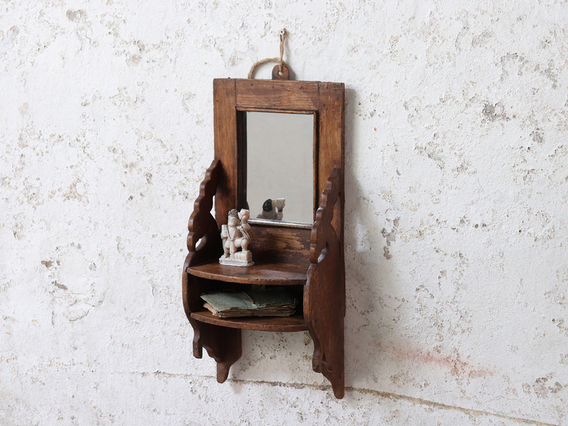 Indian Shaving Mirror Brown