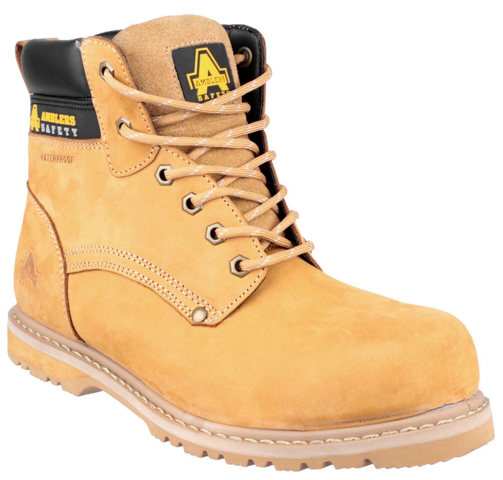 Amblers Unisex Safety 147 Welted Safety Boot Honey 24886 - Honey 6