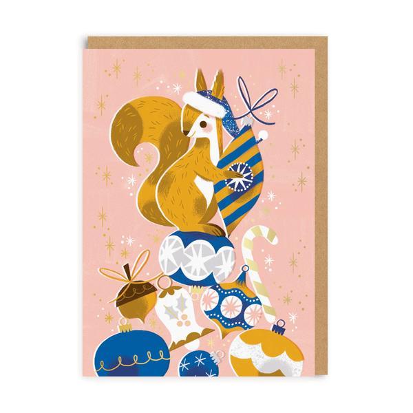 Festive Squirrel Christmas Card