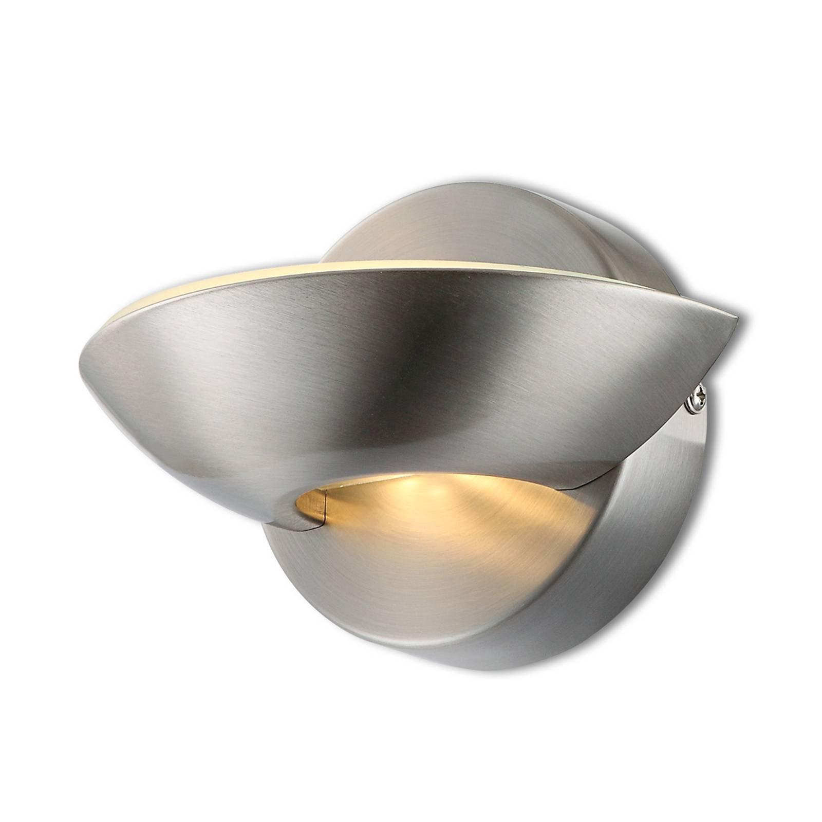 LED-vegglampe Cosimo, matt nikkel