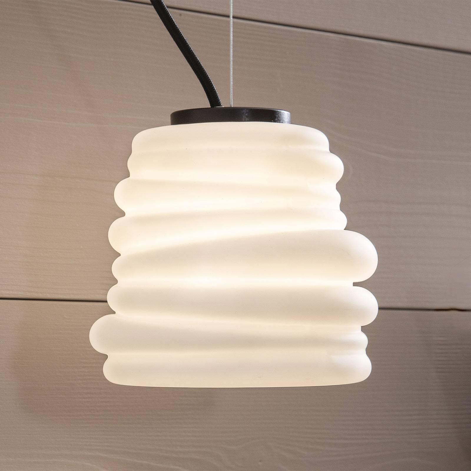 Karman Bibendum-LED-riippuvalaisin Ø15cm valkoinen