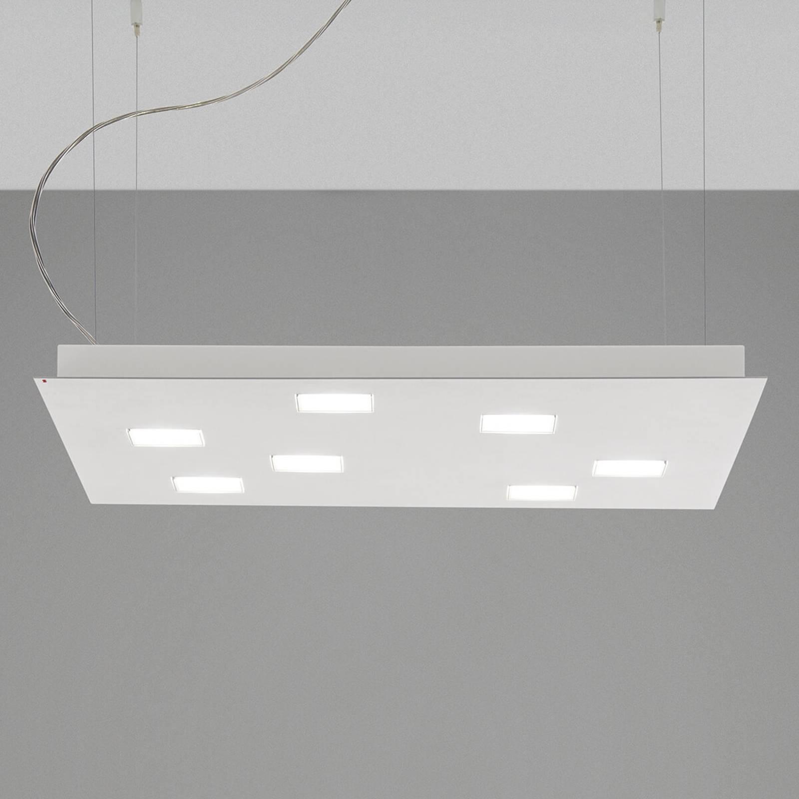 Fabbian Quarter -LED-riippuvalo 7-lamp. valkoinen