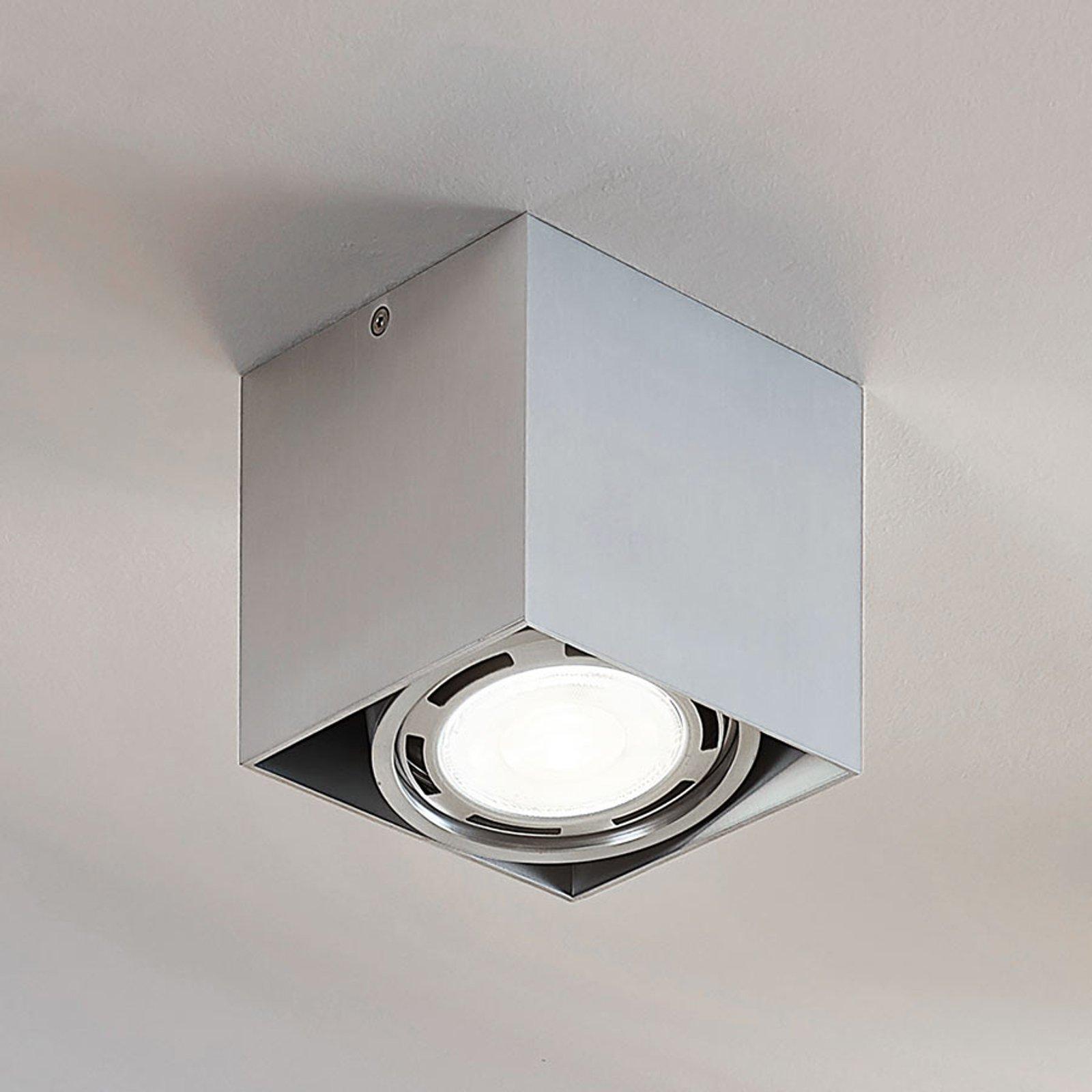 Rosalie LED-downlight 1 lyskilde kantet alu
