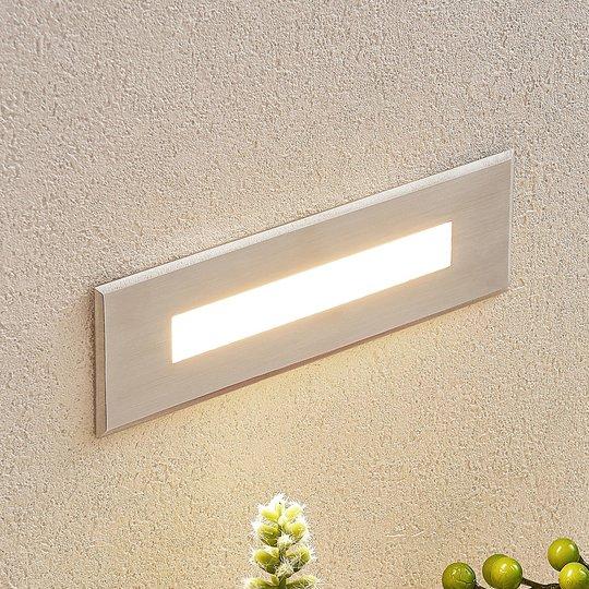 LED-seinäuppovalaisin Doga terästä, 19,5 cm