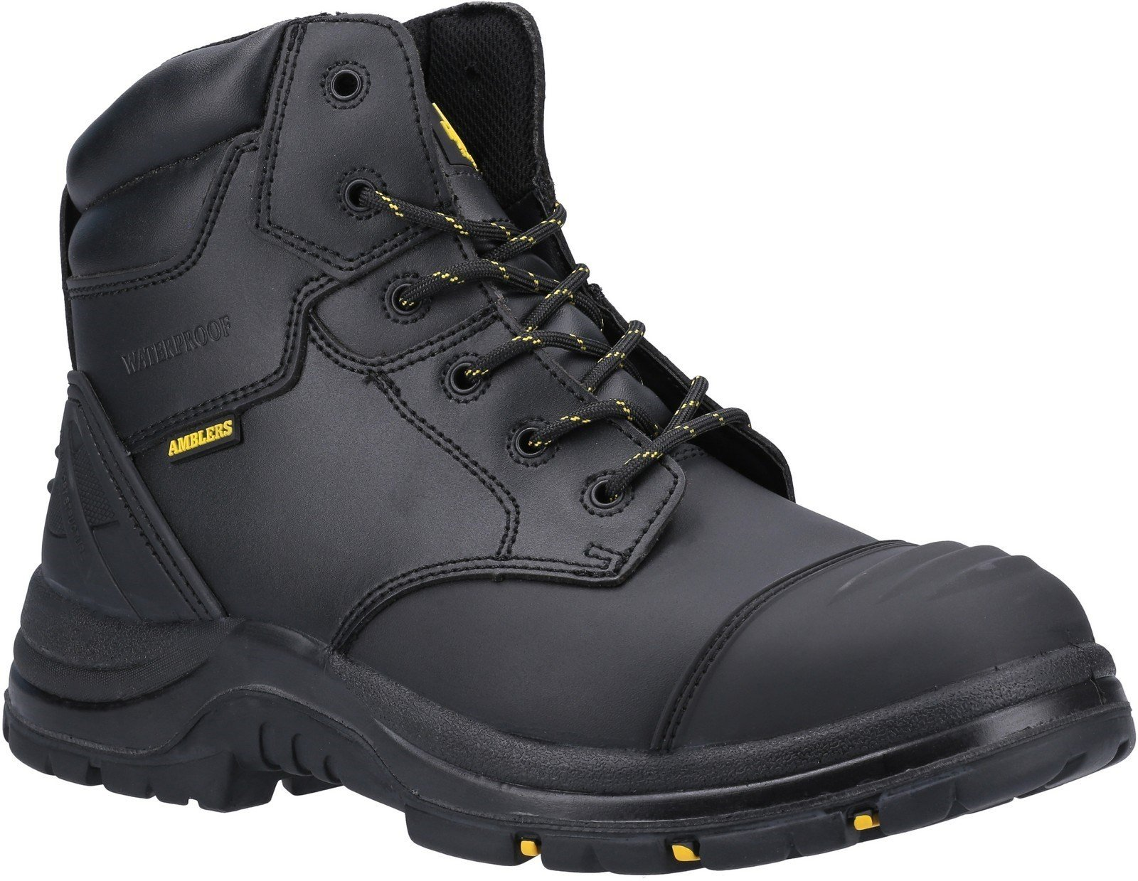 Amblers Unisex Safety Winsford Lace Up Waterproof Boot Black 29734 - Black 4