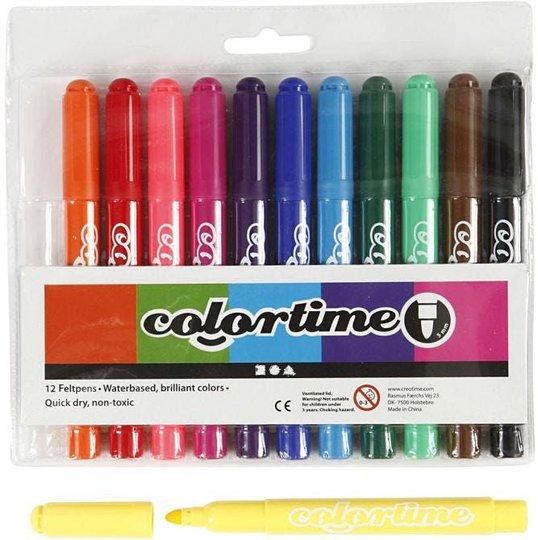 Colortime Dobbeltusj Standardfarger 12 stk