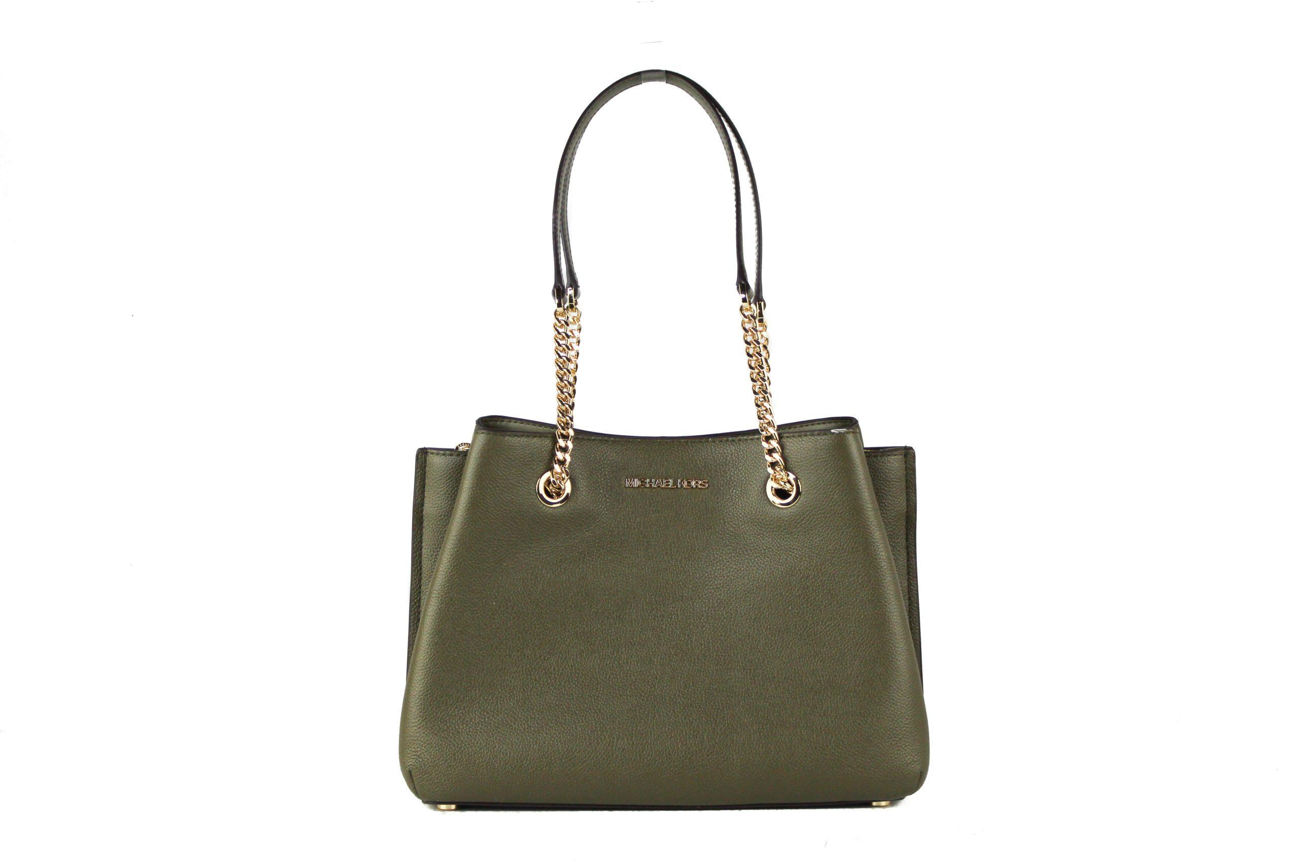 Michael Kors Women's Teagen Large Leather Long Drop Shoulder Bag Green 709994